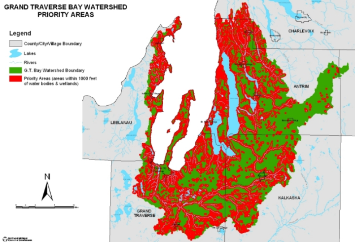 Priority Areas The Watershed Center Grand Traverse Bay